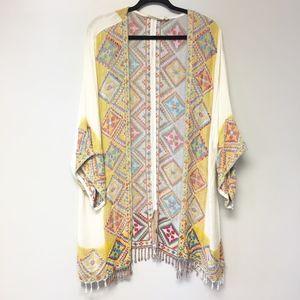 Soft Surroundings Aztec Woven Cardigan